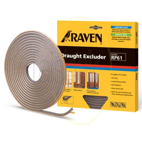 Raven, Draught Excluder, 5M, Grey, RP61