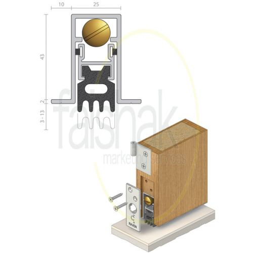 Raven, Automatic Door Bottom Seal, RP70
